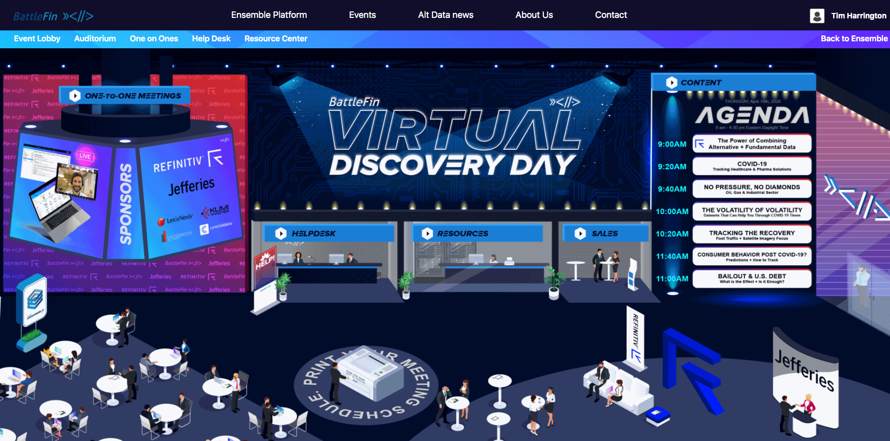 Virtual Discovery Day VDD Stage